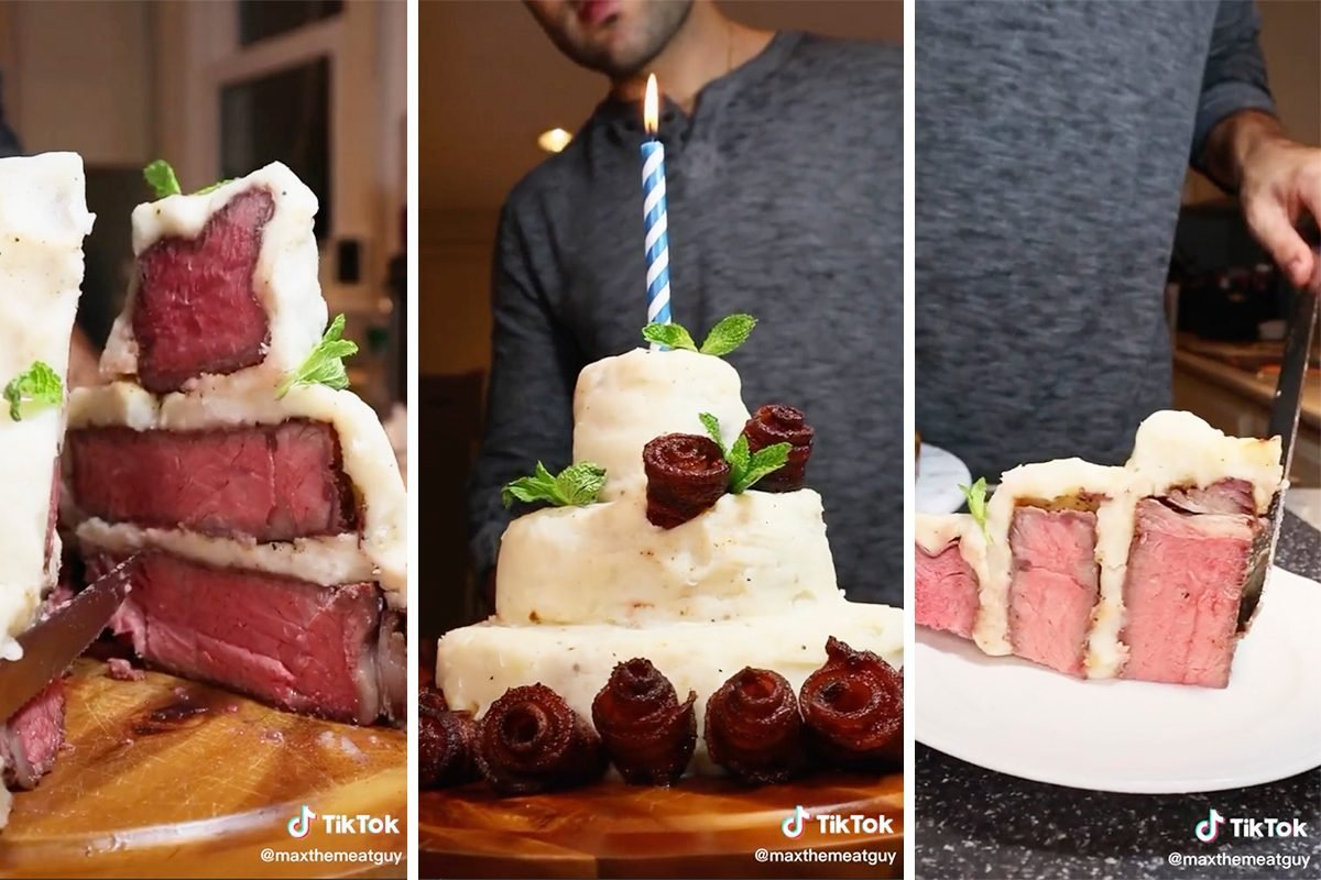TikTok steak cake trend
