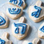 Chocolate-Stuffed Dreidel Cookies