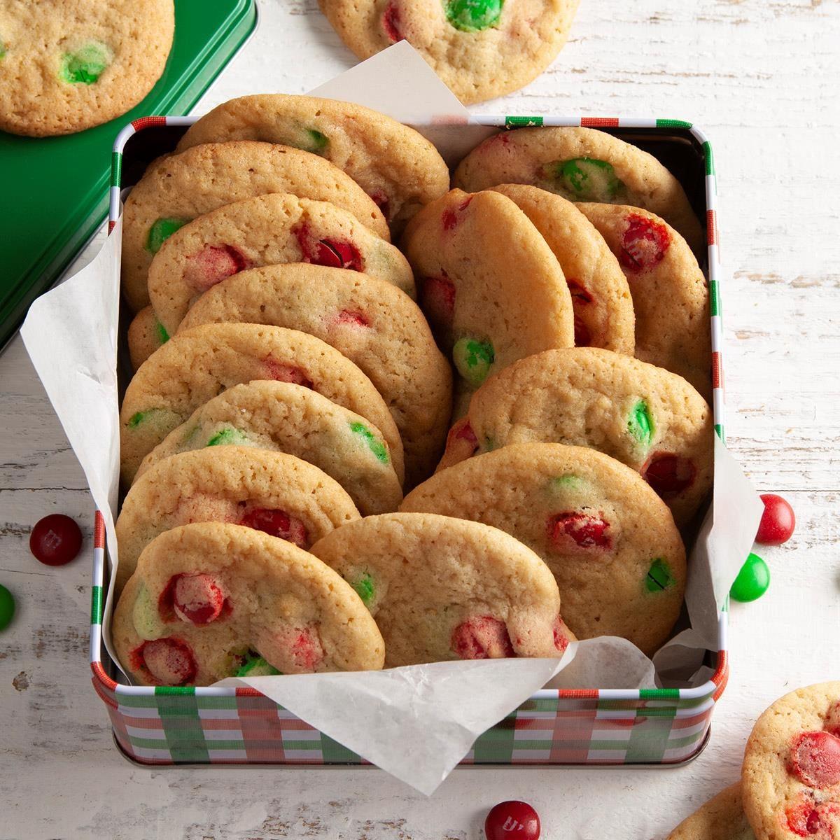 Christmas M&M's Cookies