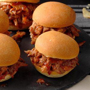 Maple-Barbecue Pork Sandwiches