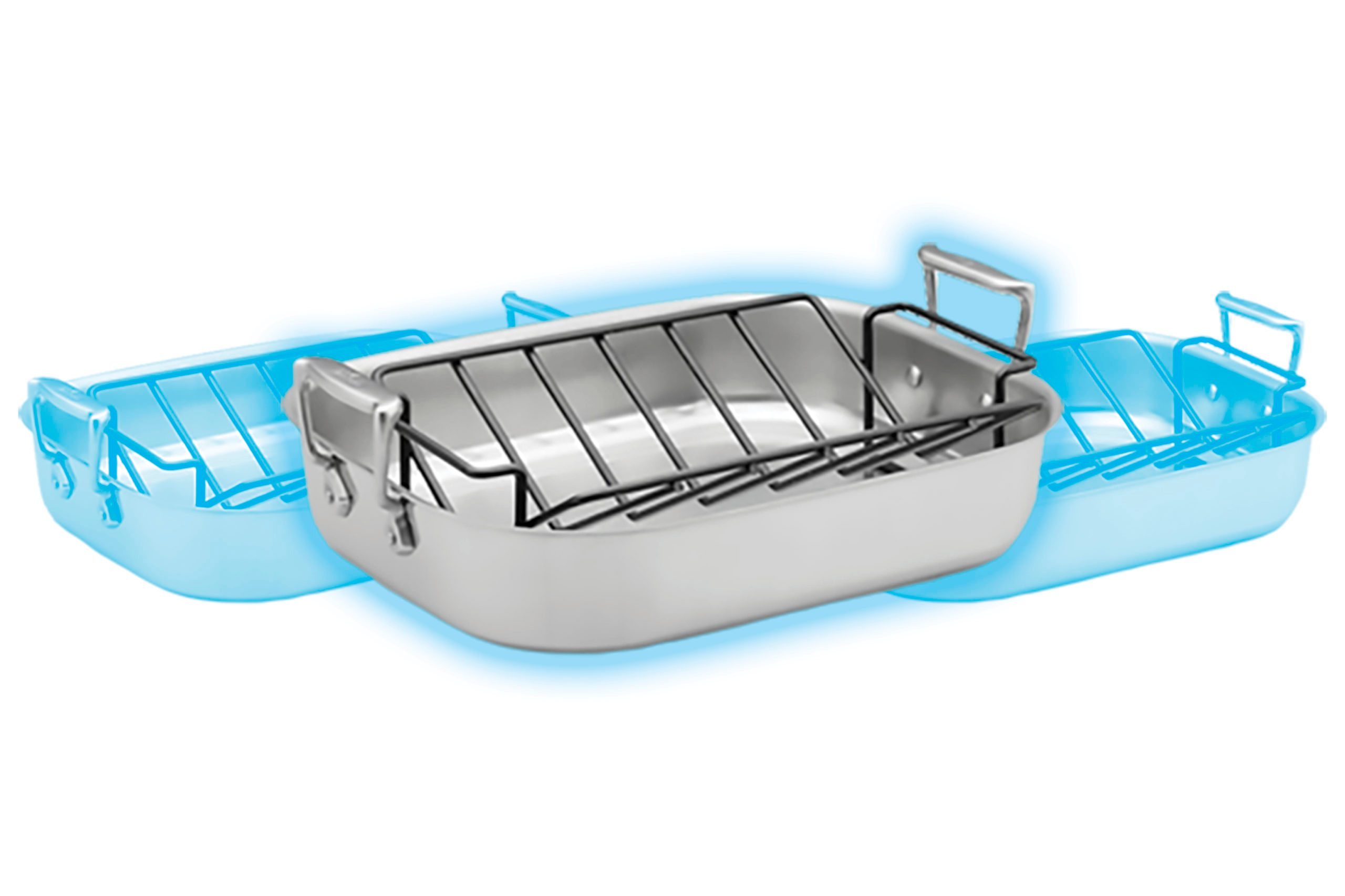 All-Clad Stainless-Steel Roasting Pans with Rack