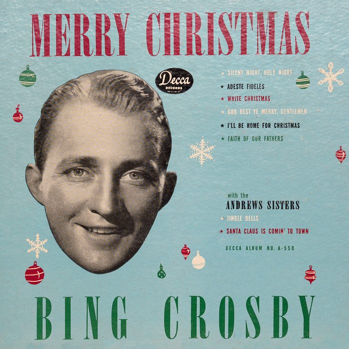 SANTA FE, NM - DECEMBER 30, 2017: A copy of singer Bing Crosby's 1945 Decca label album 'Merry Christmas' for sale in an antique shop in Santa Fe, New Mexico. The album includes Crosby's signature song 'White Christmas', the best-selling single of all-time. The album has sold more than 15 million copies and is the second best-selling Christmas album of all-time. (Photo by Robert Alexander/Getty Images)