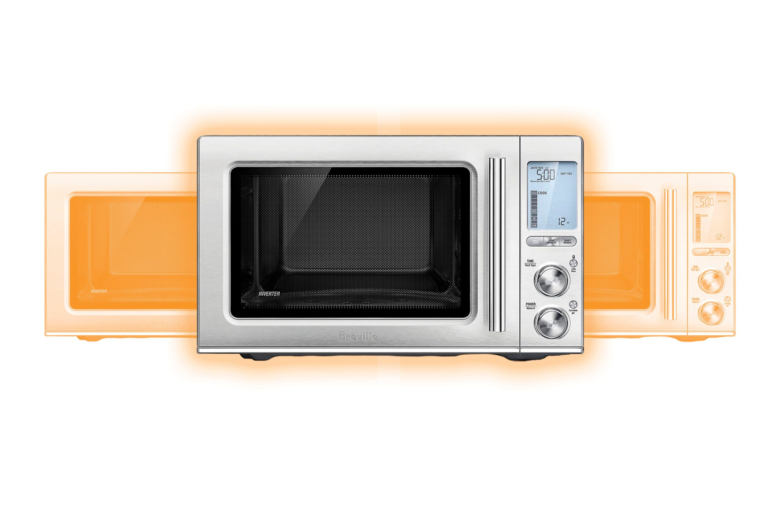 Breville® the Smooth Wave™ Microwave Oven in Stainless Steel