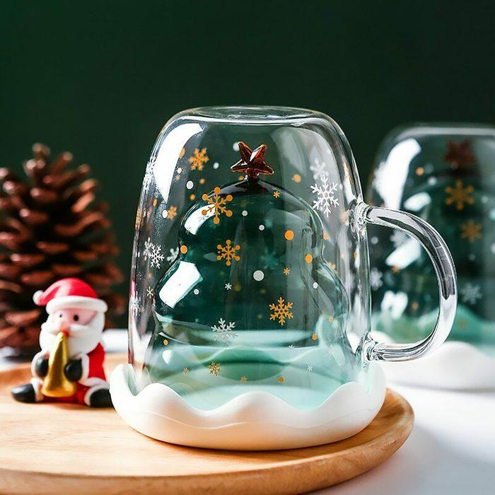 Christmas Tree Star Cup Coffee Mug Milk Juice Cup Children's Christmas Gifts