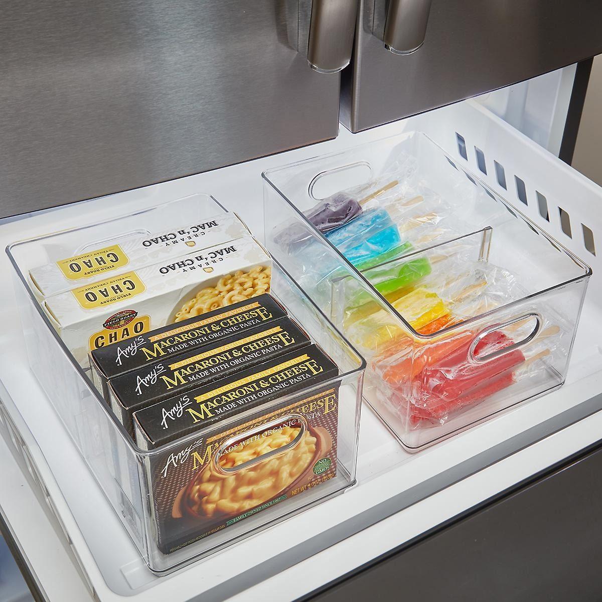 Divided freezer bins