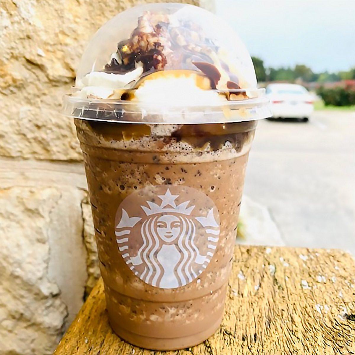 RARE Starbucks Caramel Brulee Sugar Straw Caramel Ribbon Crunch Iced Coffee