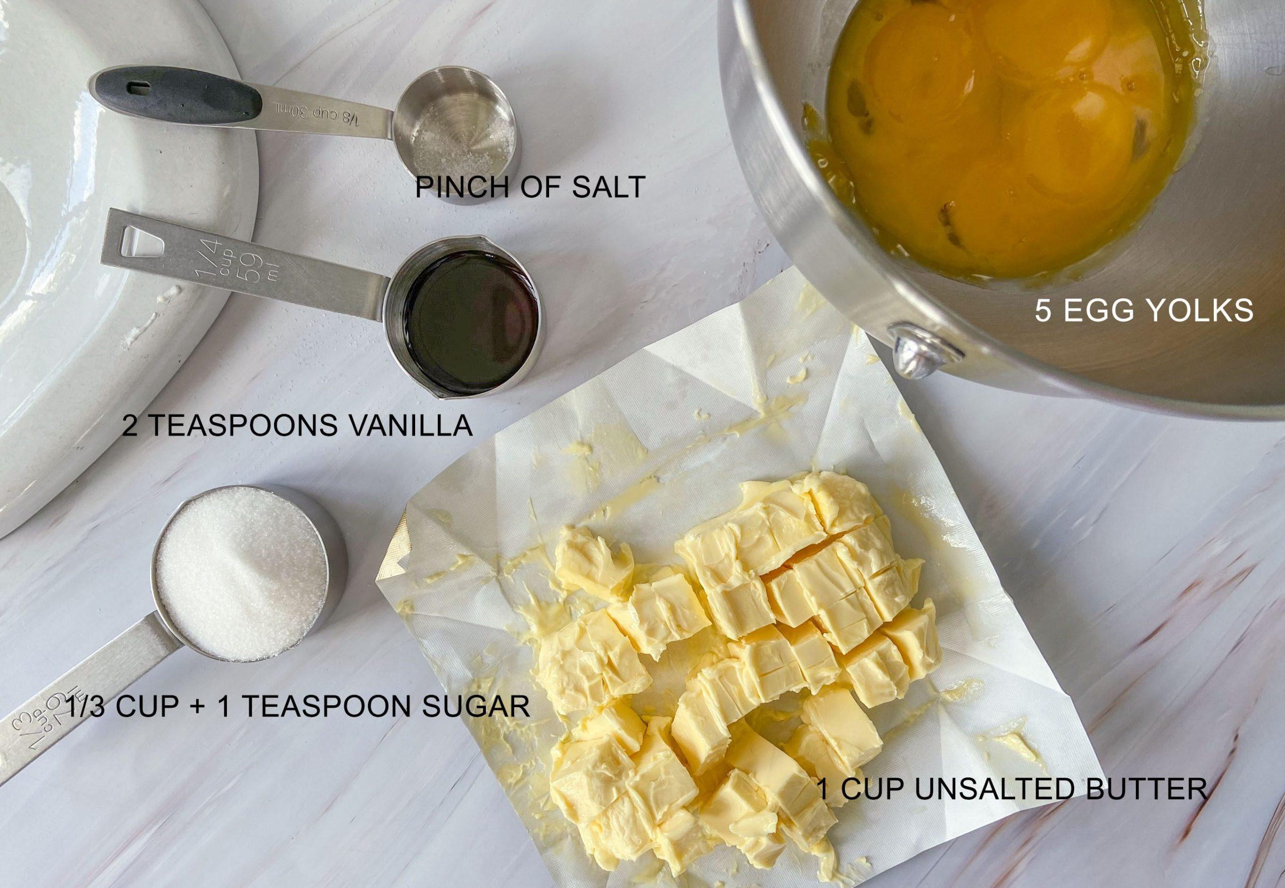 Silvanas Buttercream ingredients