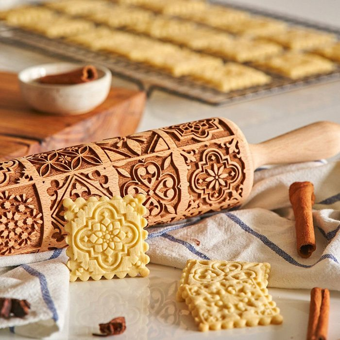VINTAGE, rolling pin, embossing rolling pin, engraved rolling pin by laser