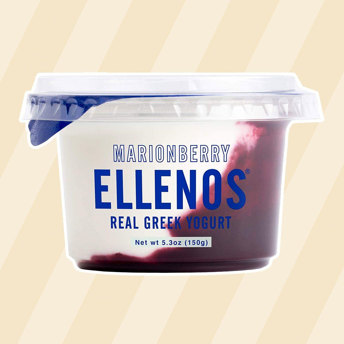 healthy snacks to buy Ellenos Yogurt, Marionberry, 5.3 Ounce