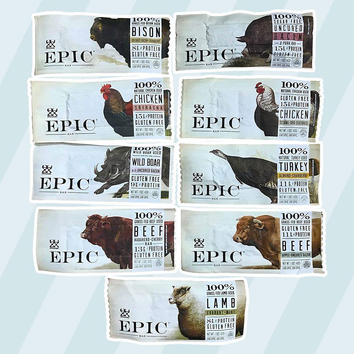 Epic Bars Variety Pack keto snack bars