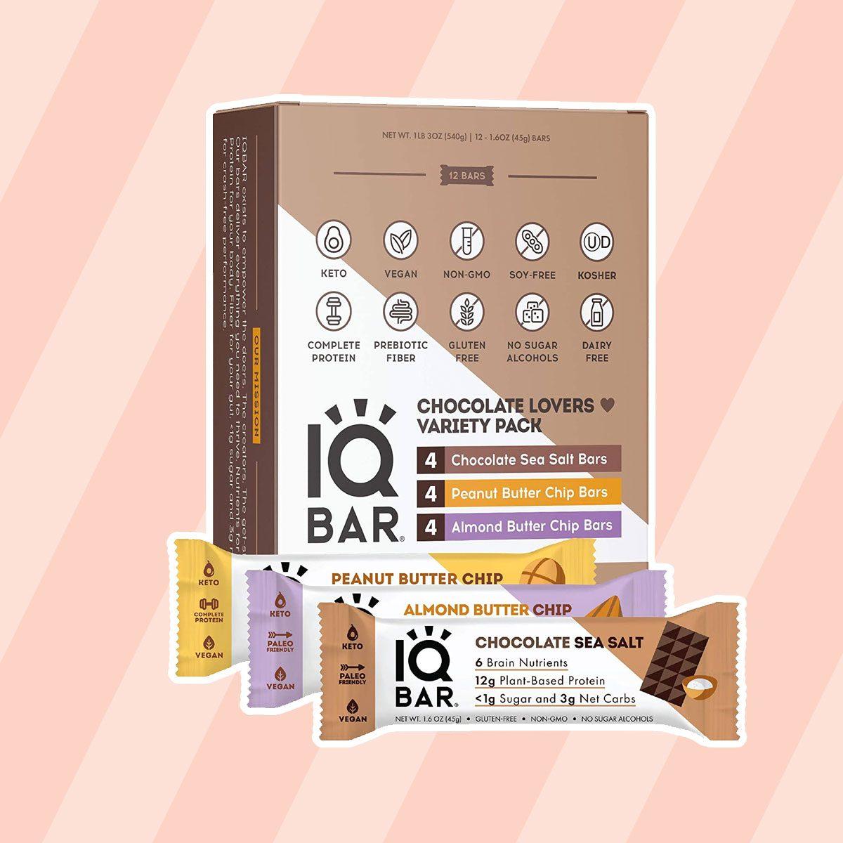 IQBAR Brain + Body Protein Bars keto snack bars