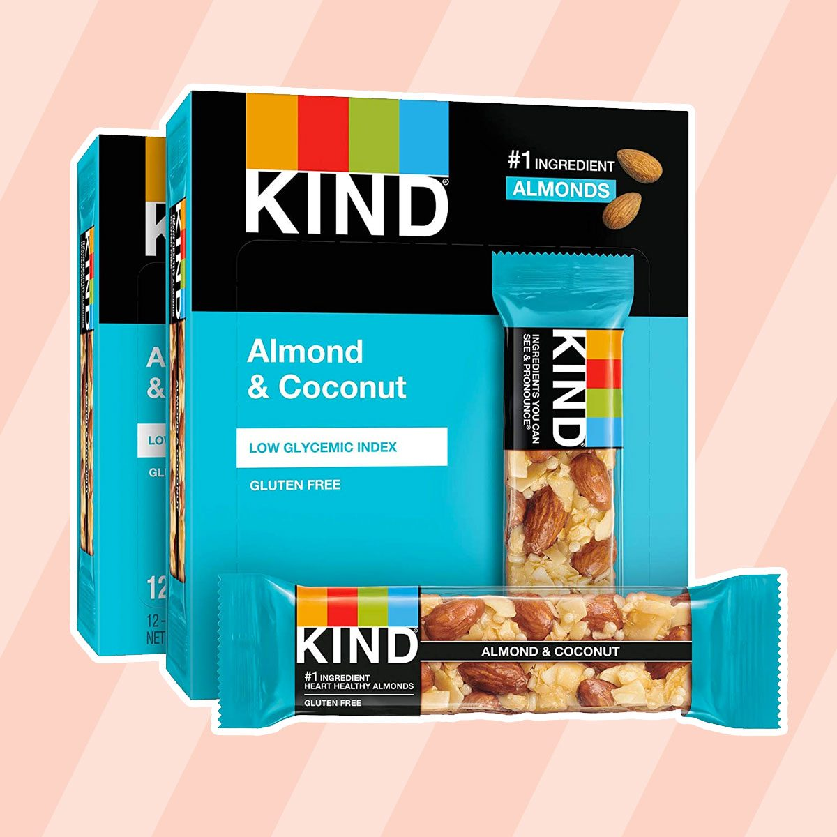 kosher snacks KIND Bars, Almond and Coconut, Gluten Free, 1.4 Ounce, 24 Count
