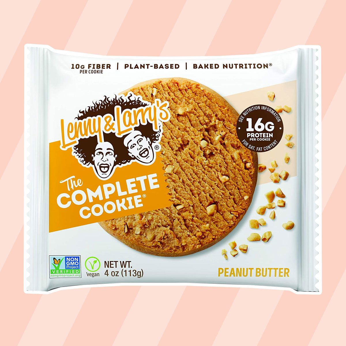 healthy snacks to buy Lenny & Larry's The Complete Cookie, Peanut Butter, 4-Ounce Cookies (Pack of 12)