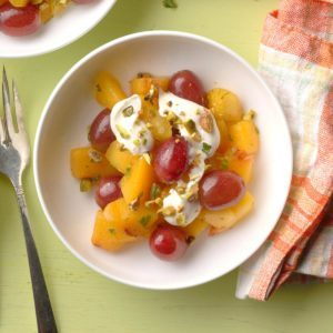 Nectarine Fruit Salad with Lime Spice Dressing