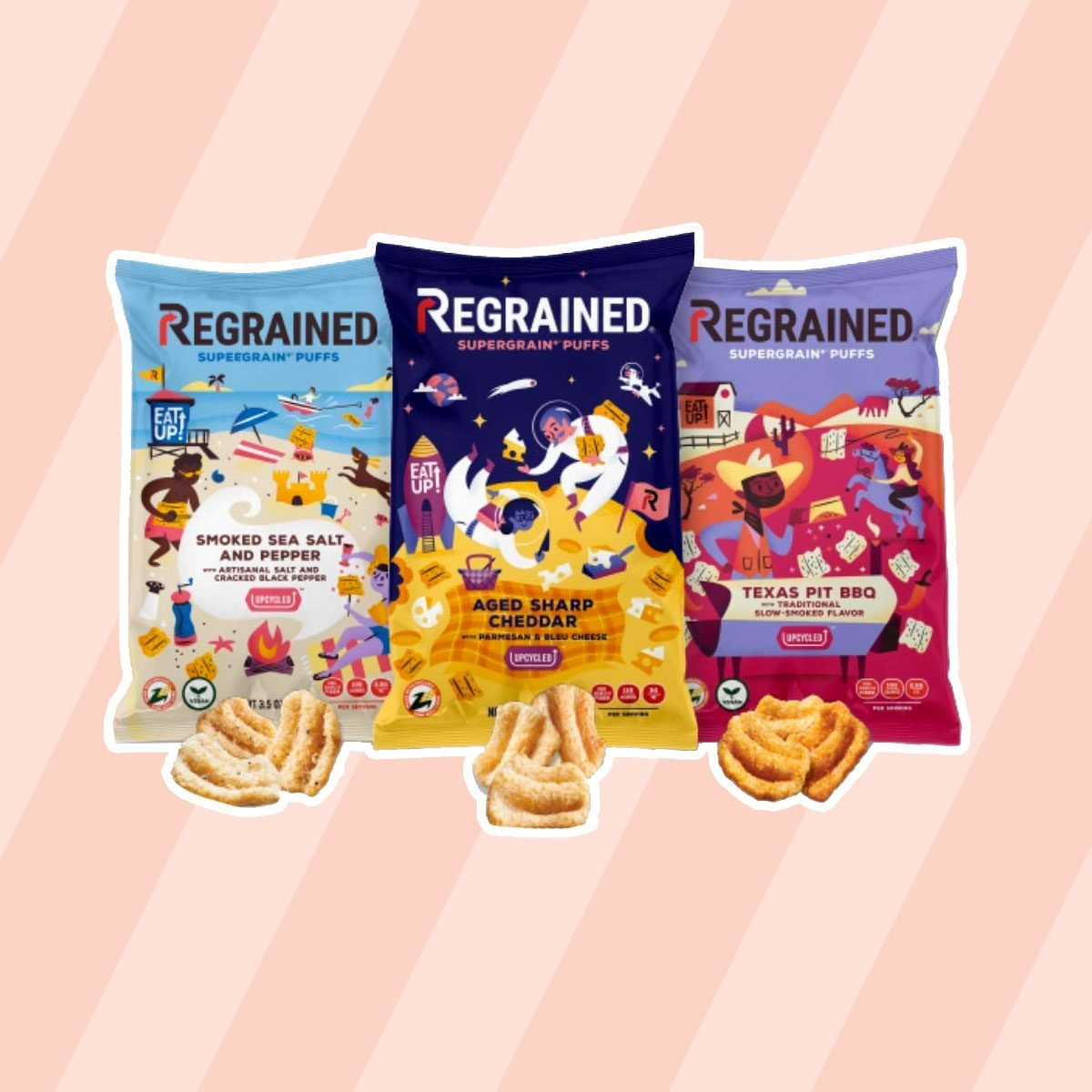 healthy snacks to buy ReGrained Organic Snack Puffs