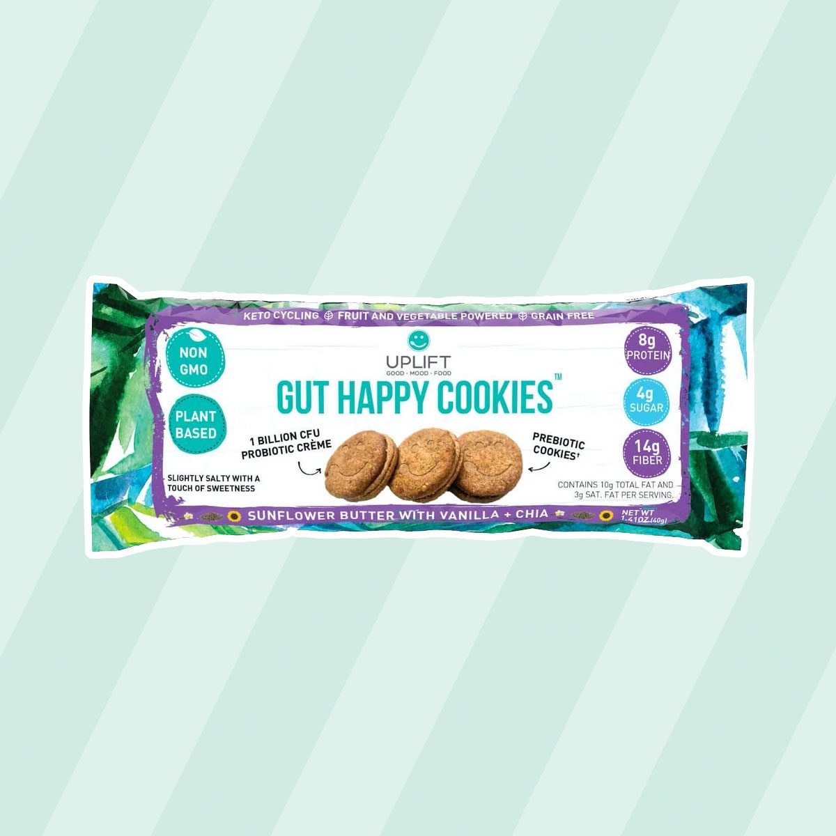 healthy snacks to buy GUT HAPPY COOKIES | SUNFLOWER BUTTER WITH VANILLA AND CHIA