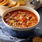 Tomato Beef Barley Soup