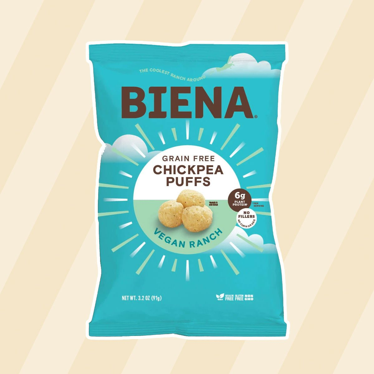 healthy snacks to buy Biena Vegan Chickpea Puffs