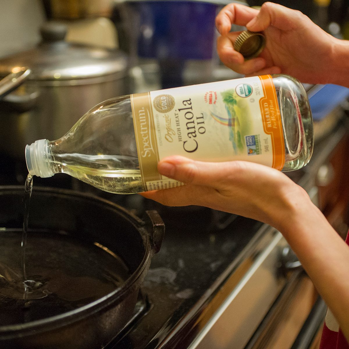 healthy oils chef cooking gluten free meal