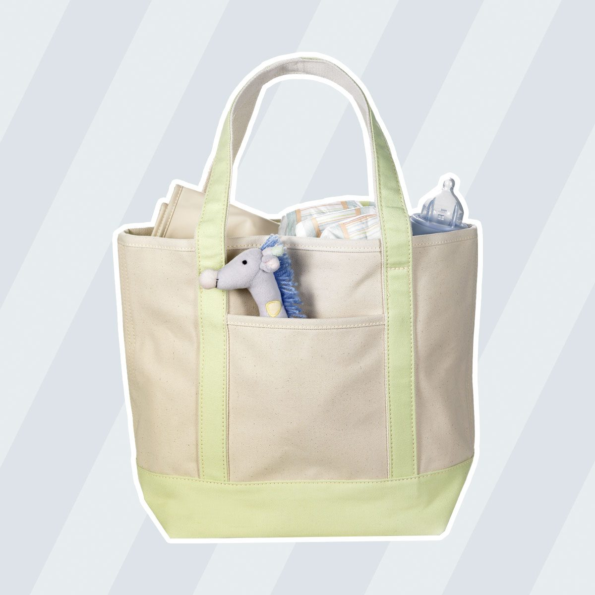 Canvas Bag With Baby Supplies uses for reusable bags