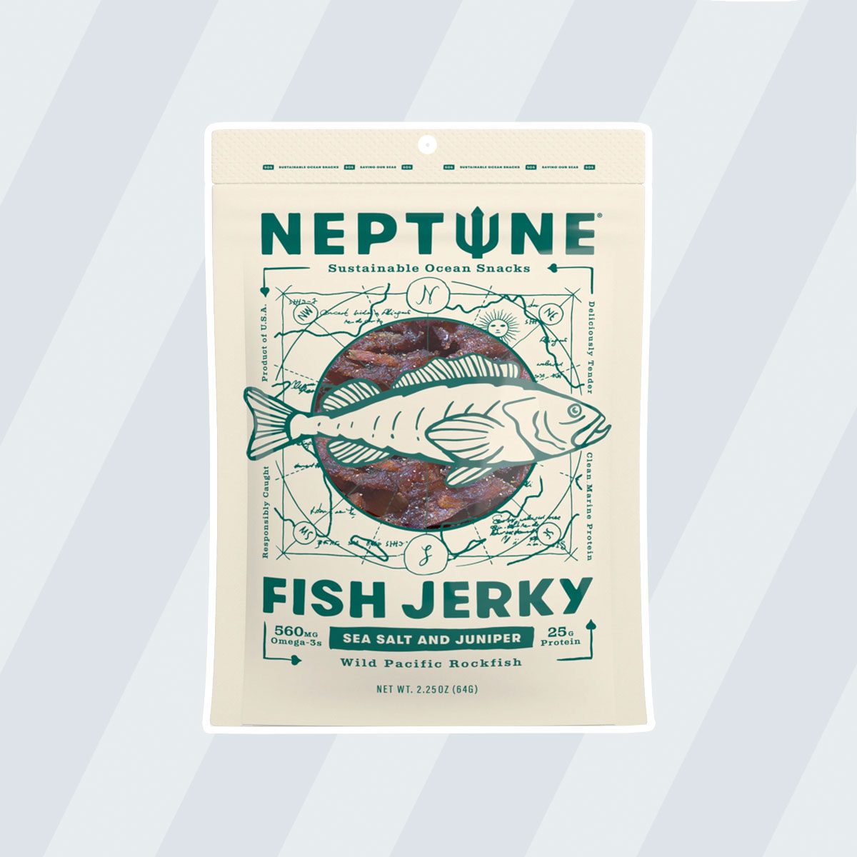 healthy snacks to buy Neptune White Fish Jerky