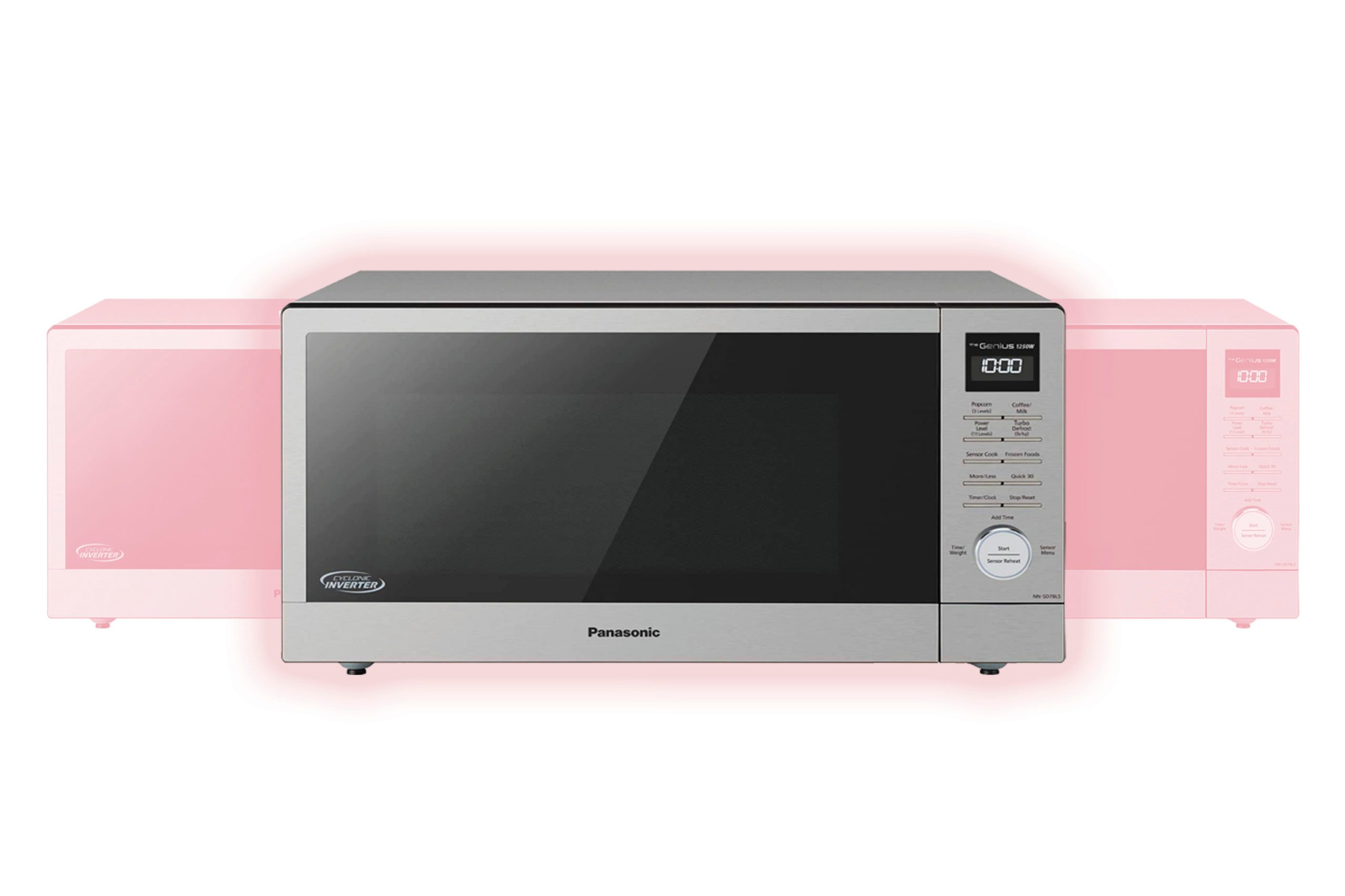 Panasonic NN-SD78LS Countertop Microwave oven with Cyclonic Wave Inverter, Genius Sensor, 1250W of Cooking Power, 1.6 cft, Stainless Steel/Silver