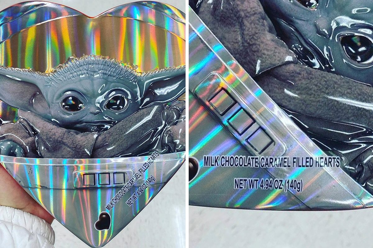 Baby yoda valentines day box of chocolates from target
