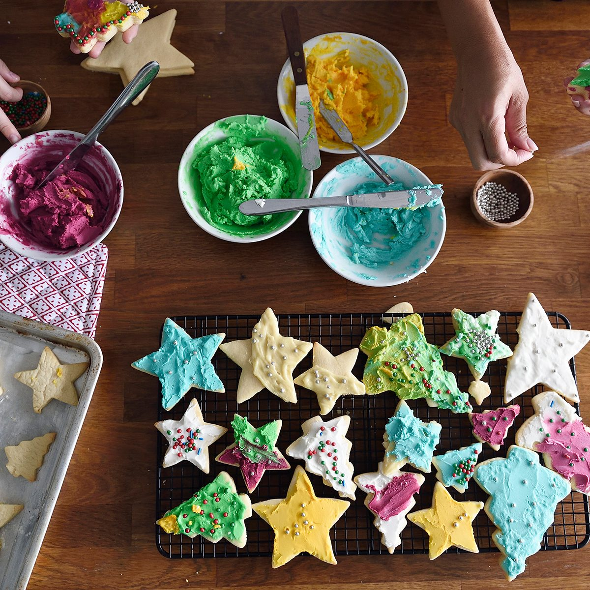 cookie decorating tips Woman And Child Decorating Cookies Together