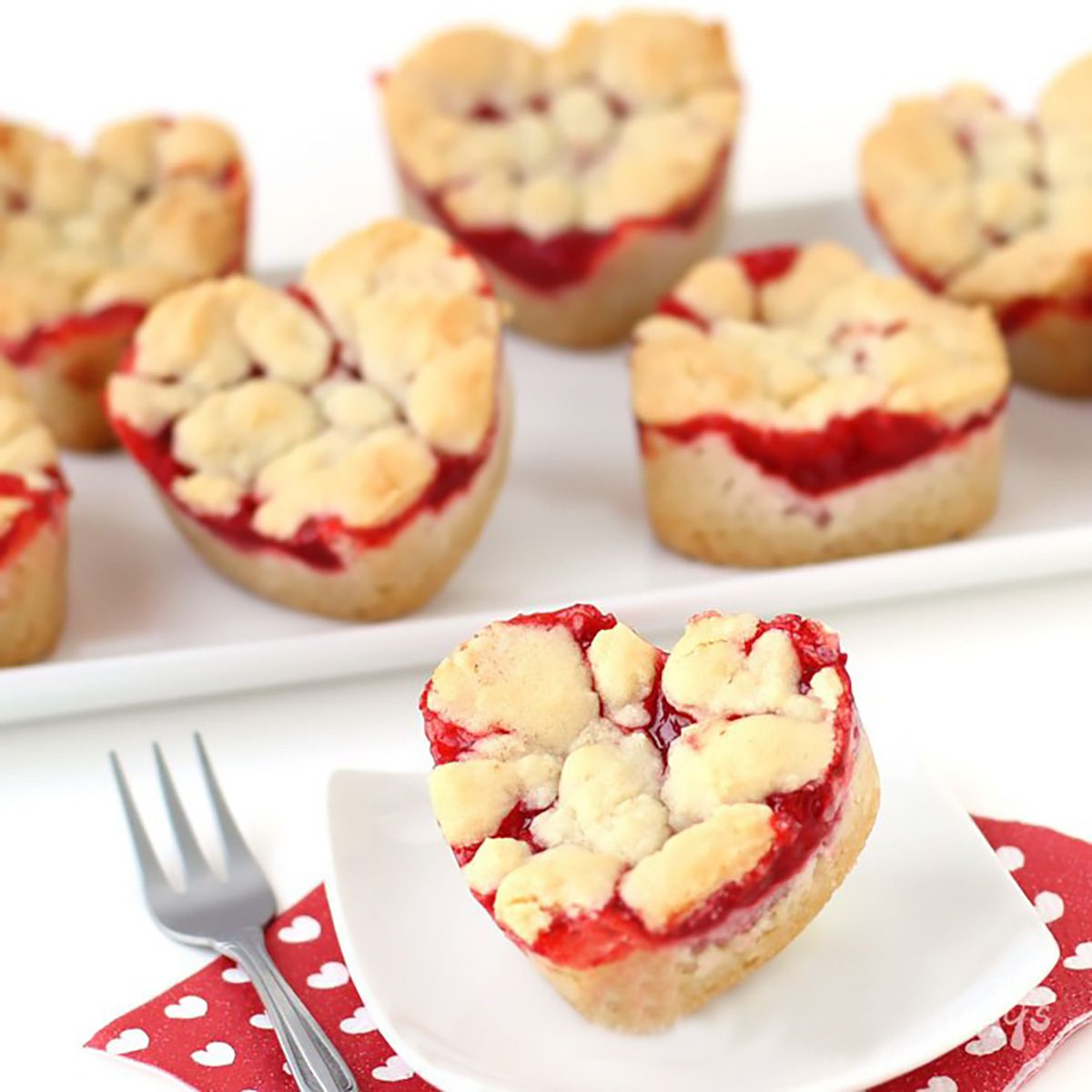2 Ingredient Heart Shaped Cherry Pie Bars valentines desserts