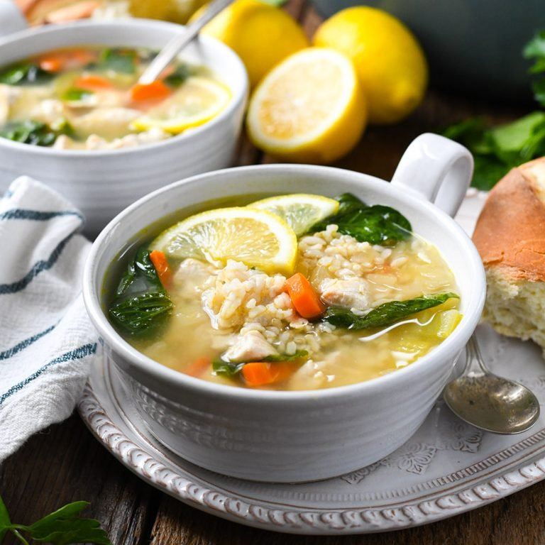 Copycat Panera Greek Lemon Chicken Soup Horizontal Large 7