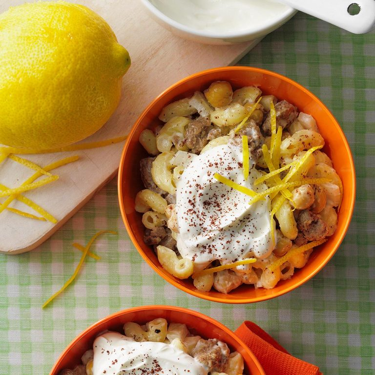 Middle Eastern Inspired Macaroni Salad Exps Tohjj21 258986 E02 03 2b