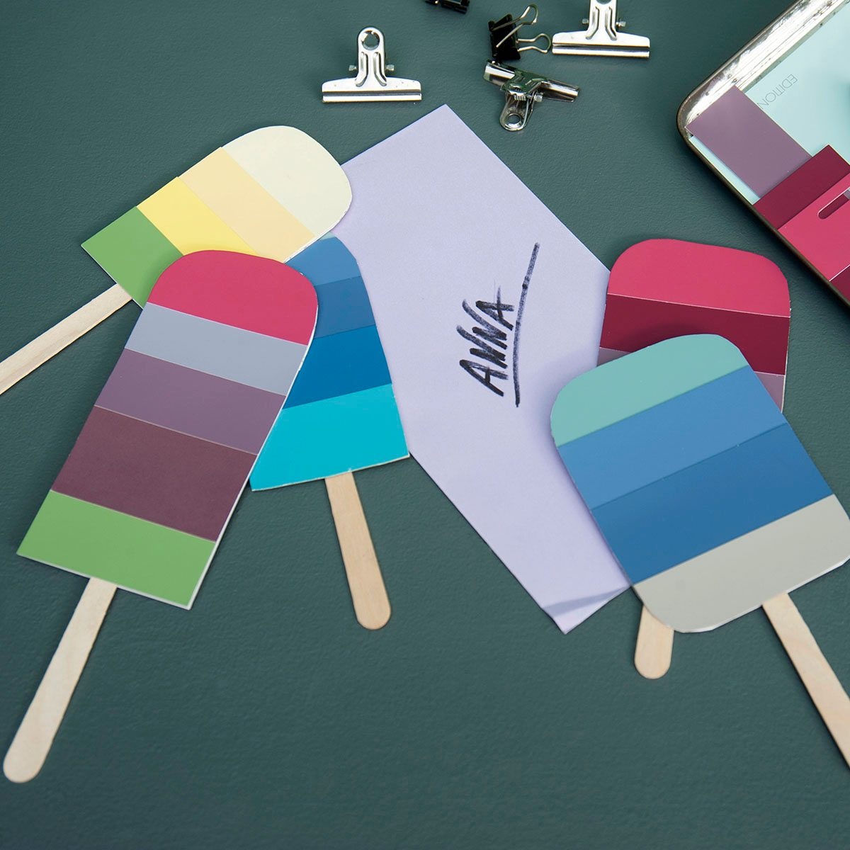 Diy Popsicle Shaped Birthday Cards