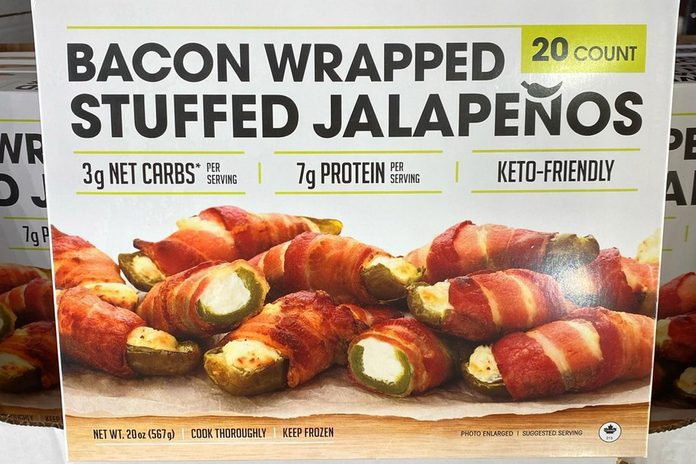 Costco Bacon wrapped Stuffed Jalapenos