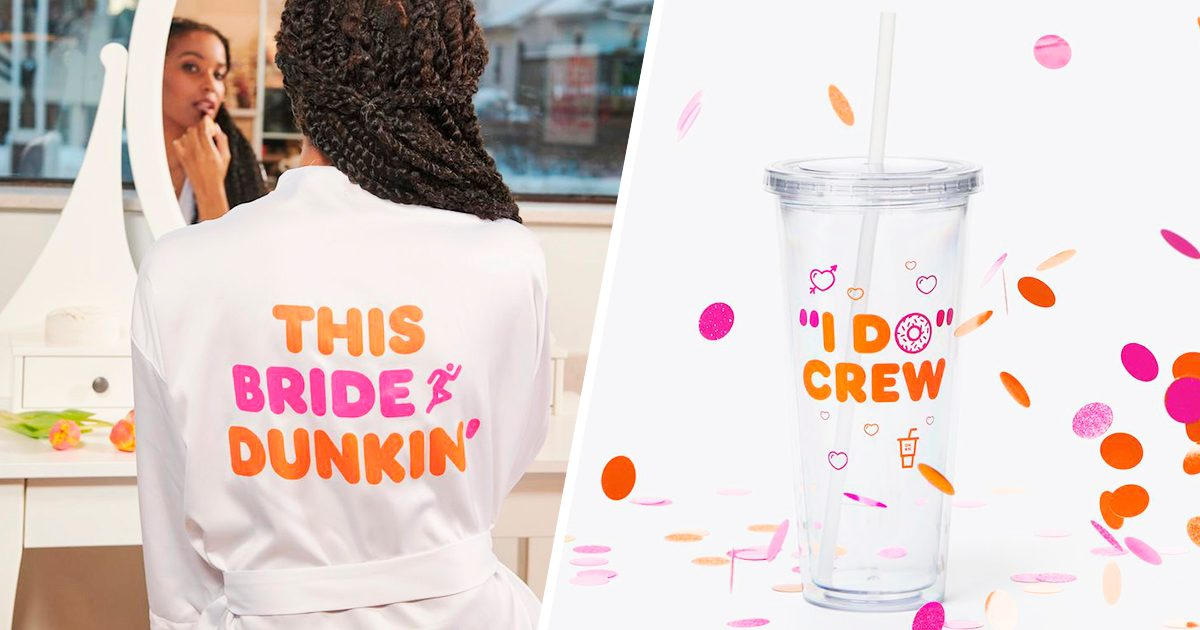 Dunkin' Is NOW Selling Wedding Merch, and We're Ready to Propose to Someone
