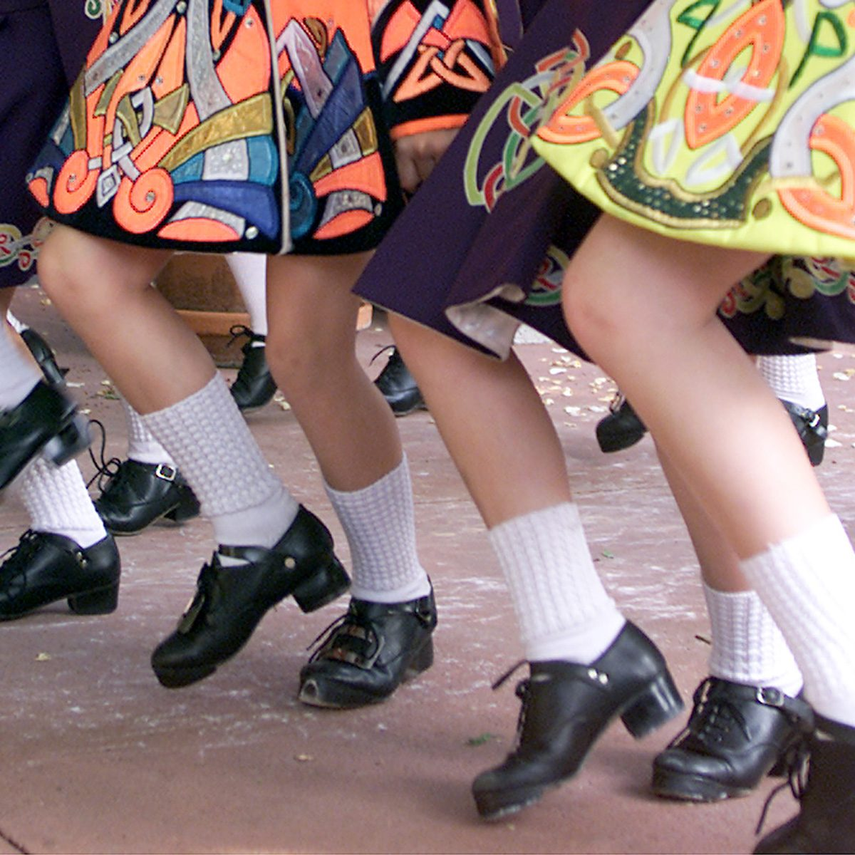 A Group Of Students Who Varied Aged, The Irish Step Dance For The Da
