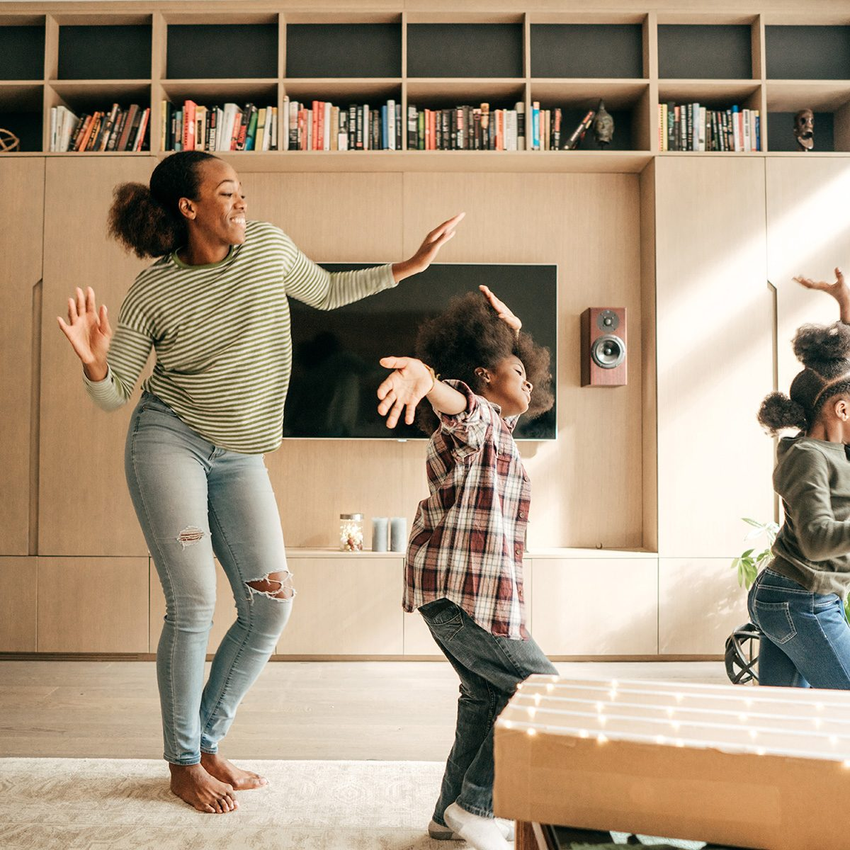Mother And Kids Dancing