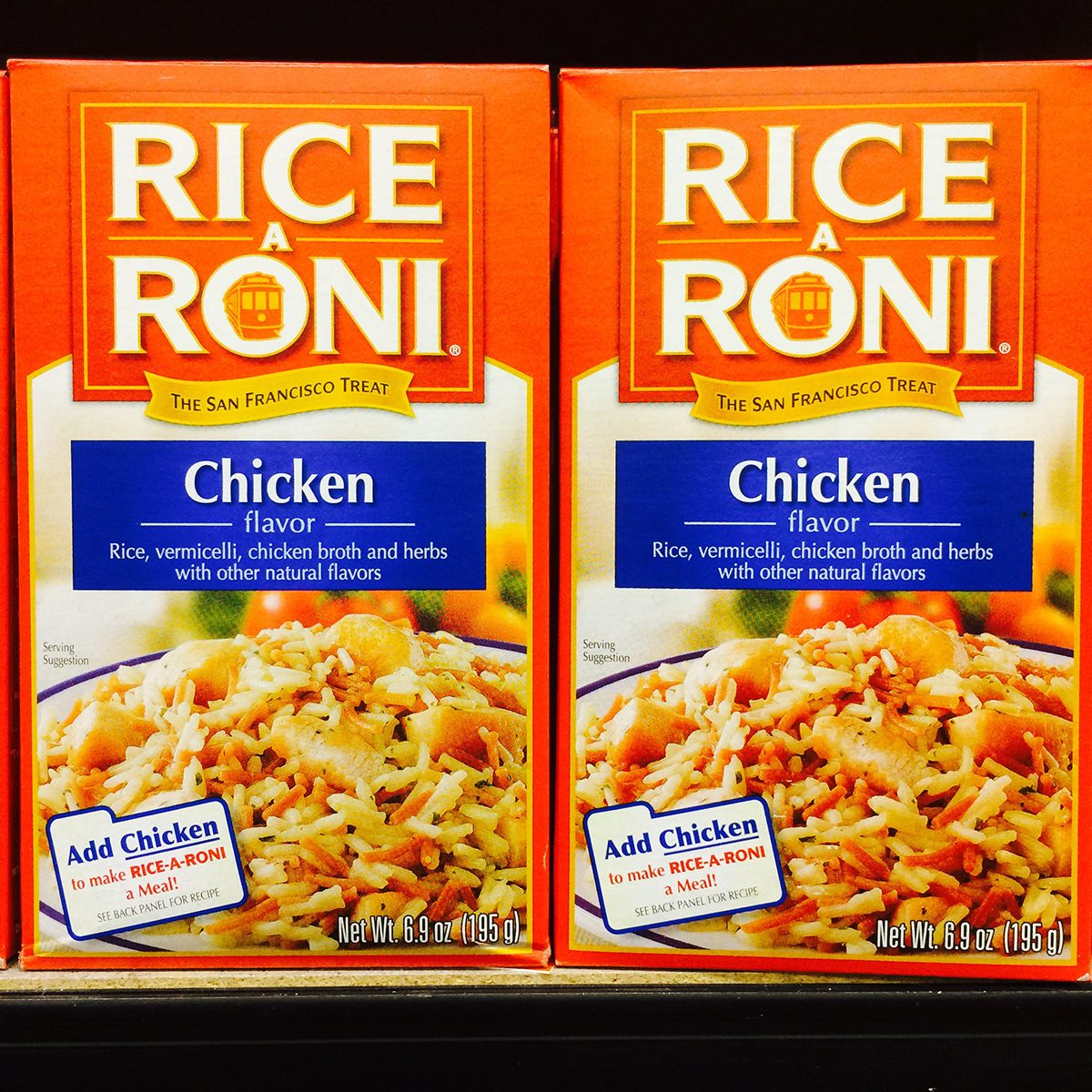 Rice a Roni, prepared food in a box, popular side dish