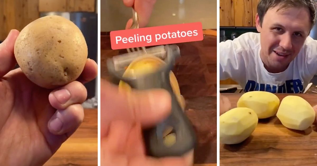 The Little-Known Trick to Peeling Potatoes in SECONDS