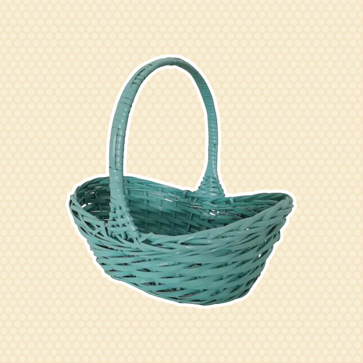 Blue Willow Basket vintage easter decorations