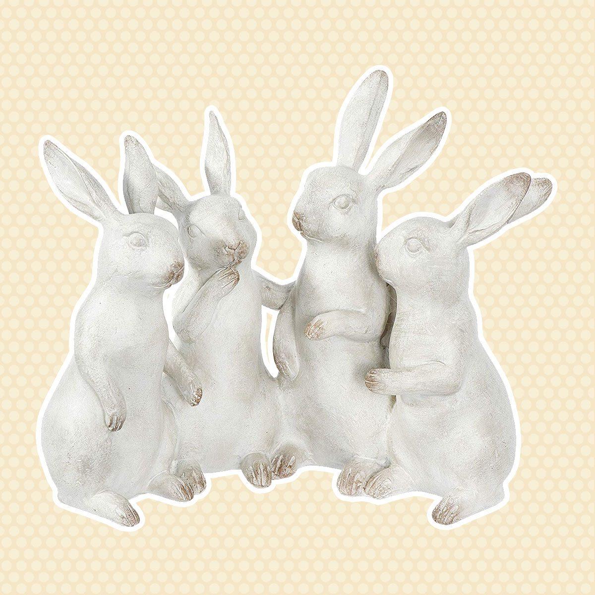 Bunny Rabbit Figurines vintage easter decorations