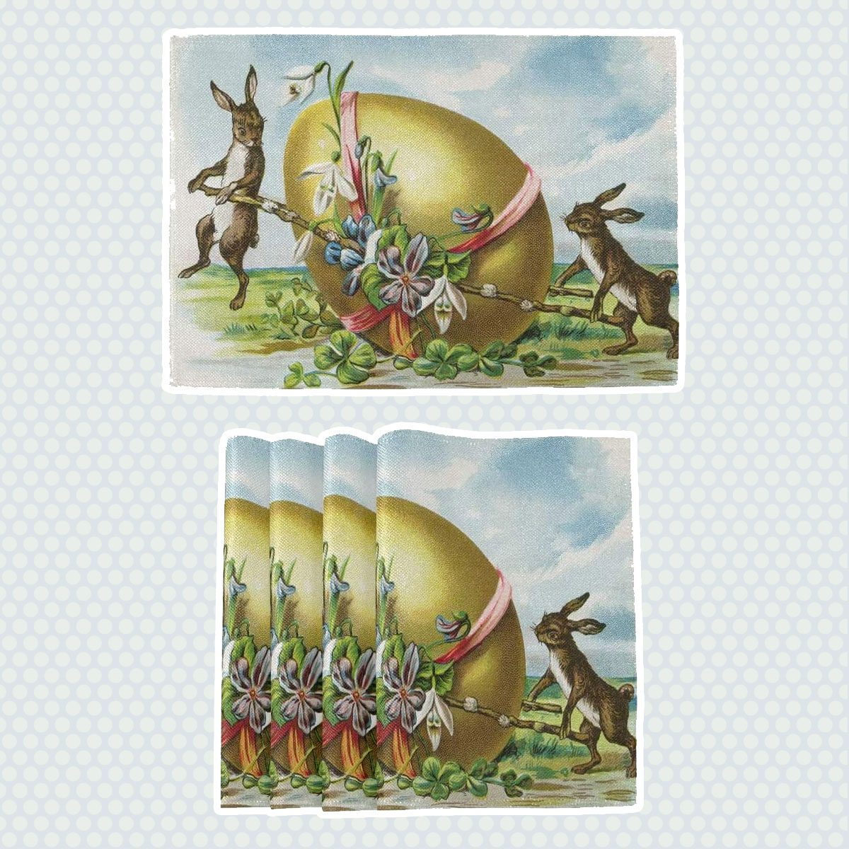 vintage easter decorations Easter Bunny Placemats
