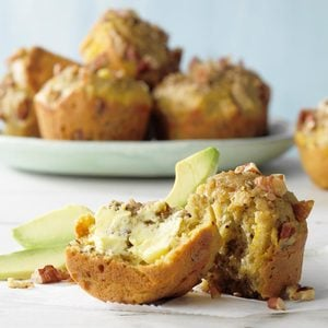 Healthy Avocado Pineapple Muffins
