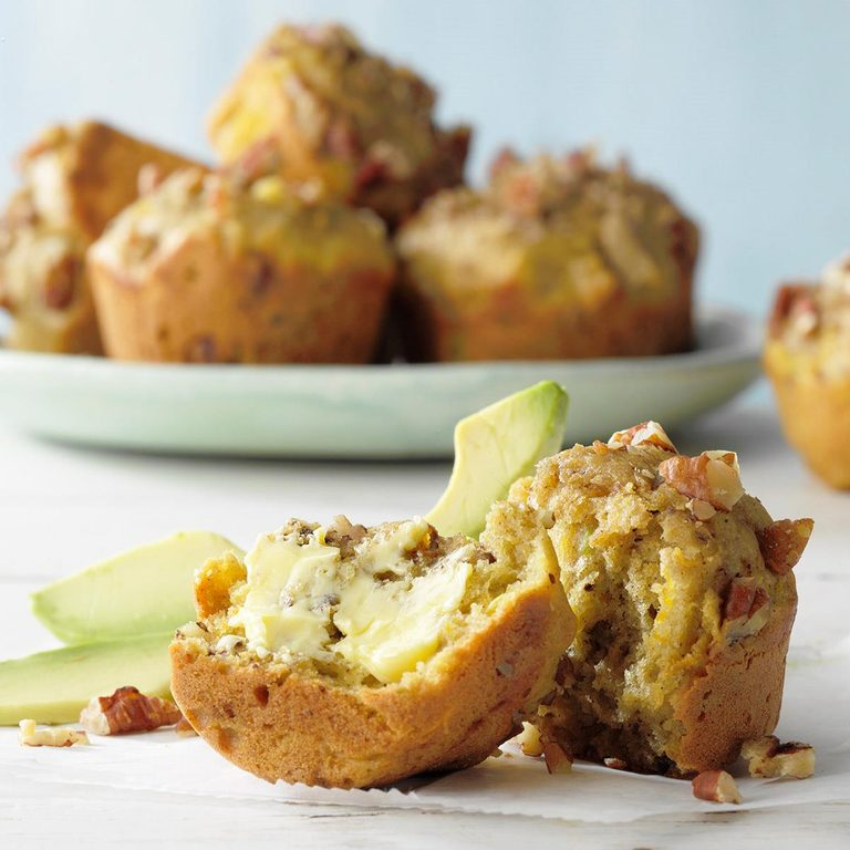 Healthy Avocado Pineapple Muffins Exps Rc21 258237 E02 19 1b