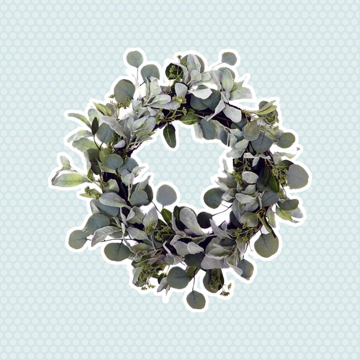 Lambs Ear Wreath vintage easter decorations