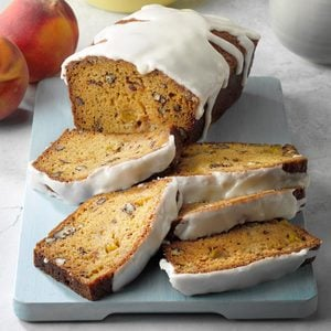 Peaches and Cream Whiskey Loaf