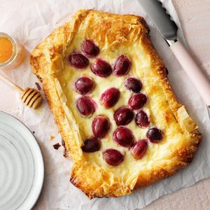 Roasted Grape and Sweet Cheese Phyllo Galette