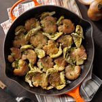 Roasted Smashed Potatoes with Artichokes