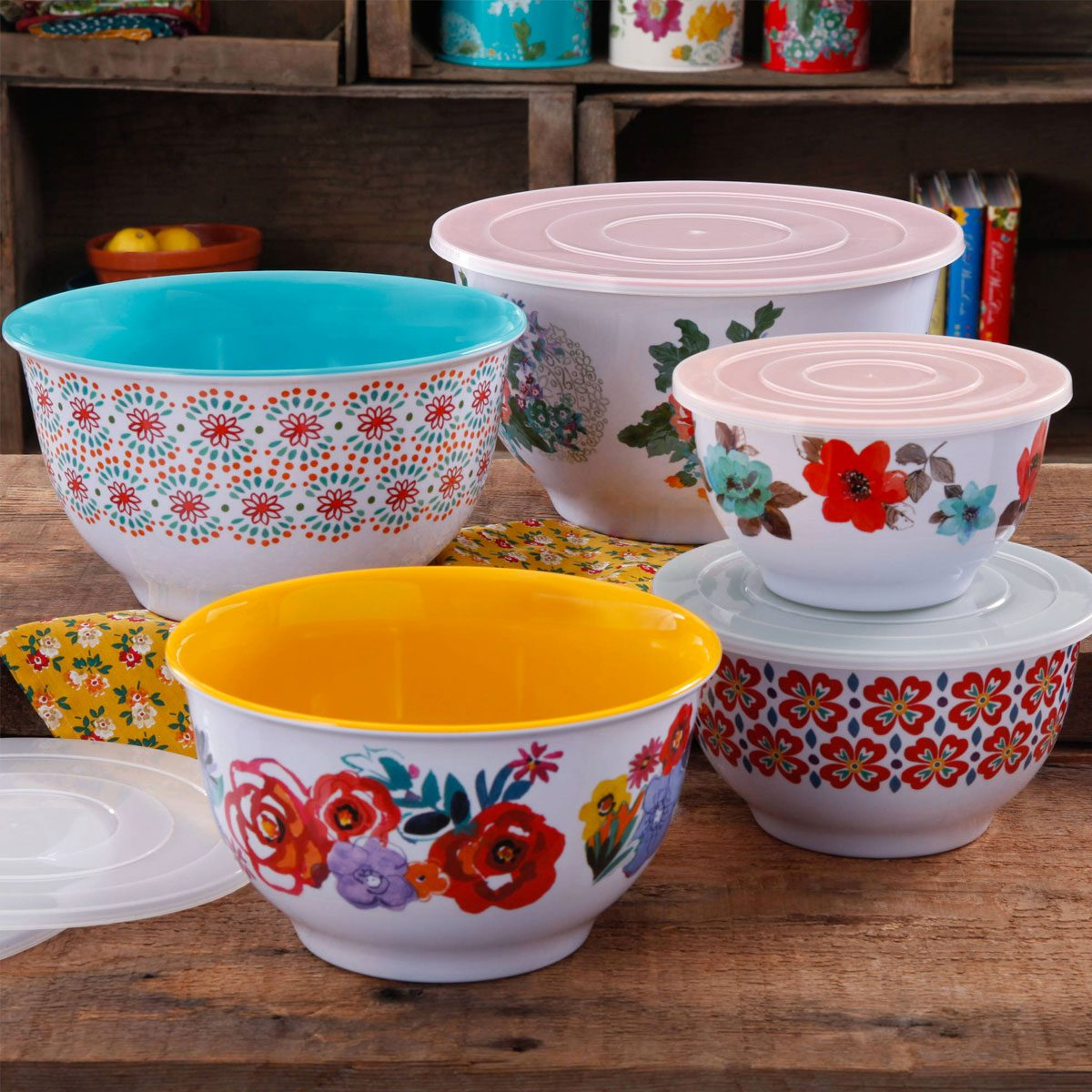 The Pioneer Woman Traveling Vines Mixing Bowl Set