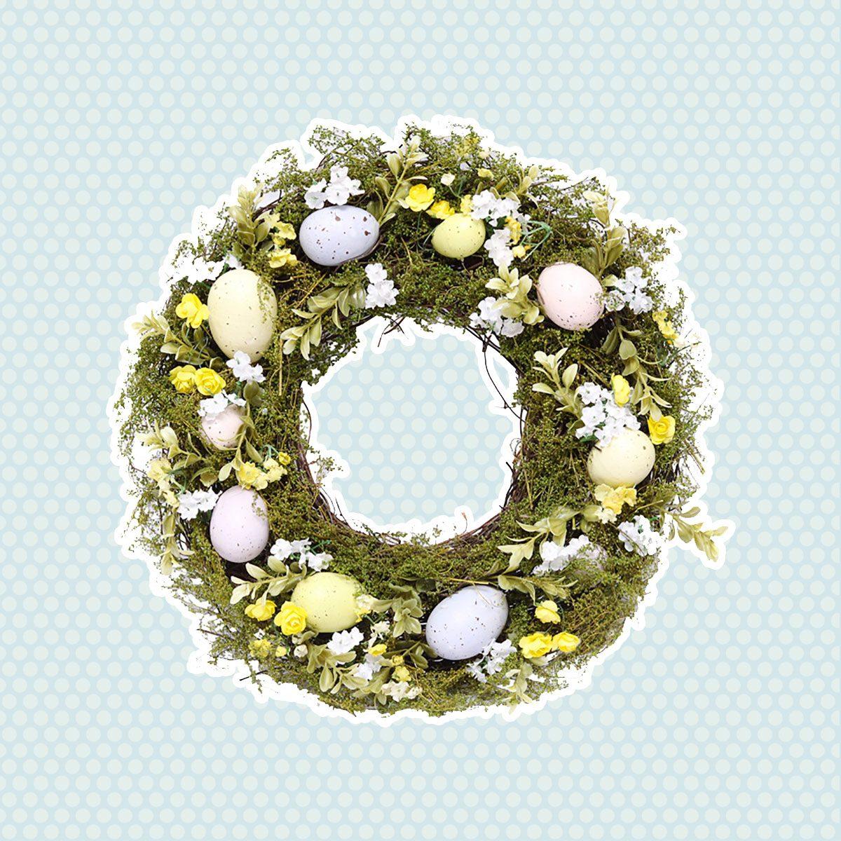 vintage easter decorations Vintage Easter Wreath