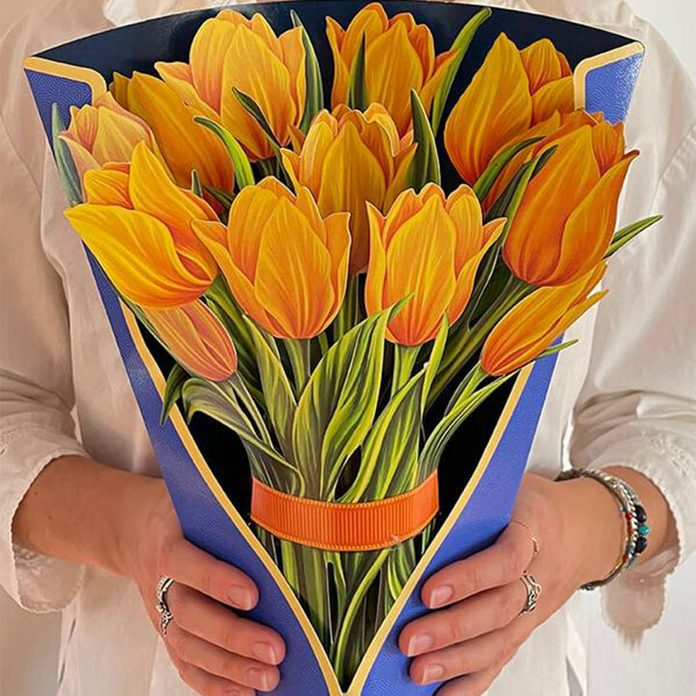 Yellow Tulips In Vase what to send mom for mother's day